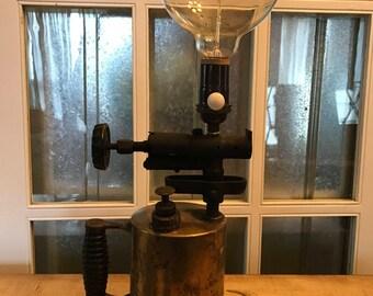 Blowtorch Lamp