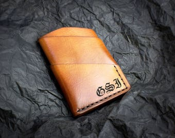 40% OFF SALE! Minimalist leather cardholder wallet, Personalized