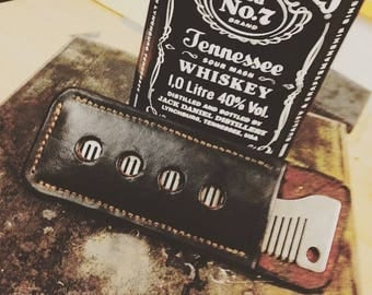 Handmade pouch to fit old familiar comb company comb.