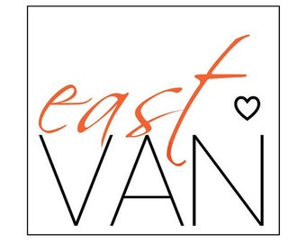 East Van Vancouver B.C. Fridge Magnet - Love This Place Namesake Style - The Jitterbugshop Canada - Gift Art Red Heart