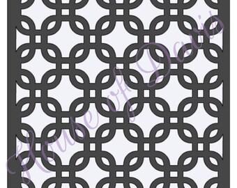 Chainlink Stencil - 12x12