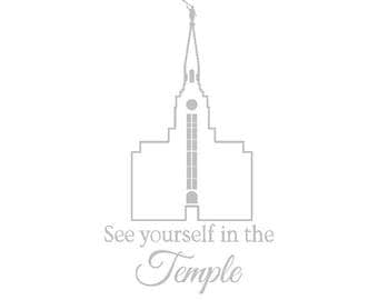 VINYL Boston LDS temple see yourself in the temple - vinyl sticker for mirror