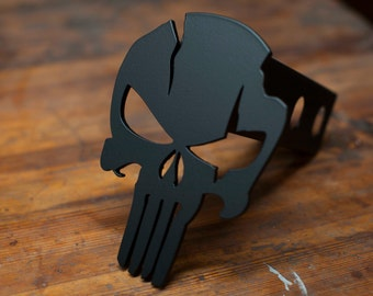 Punisher Warrior - Trailer Hitch Cover - Black