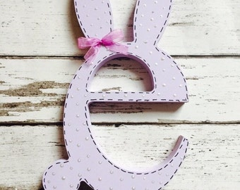 Personalised wooden bunny easter bunny personalised gift bunny letter wooden easter letter easter bunny personalised easter gift negle Choice Image