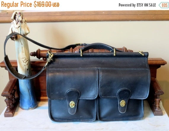 Football Days Sale Coach Kensington Briefcase Attache Laptop IPad Carrier in Black- Style No 5279- VGC Made In U.S.A.