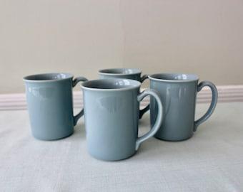 Corning Steel Blue Vintage Coffee Mugs Set of Four
