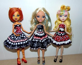 """Set of Clothes, for Puppets, Monster High, """"Caramel"""", Shoes + Dress for Dolls, Monster High"""