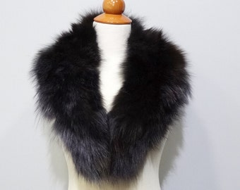 Real Large Fox Fur Collar,Scarfs fur,Wrap fur,Scarves fur,Woman Collar,Fur Collar,fur for Leather Jacket,real fur collar F526