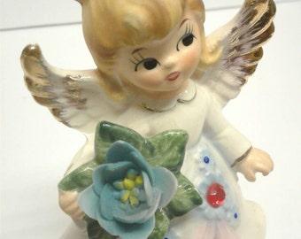 Vintage Lefton July Birthday Angel