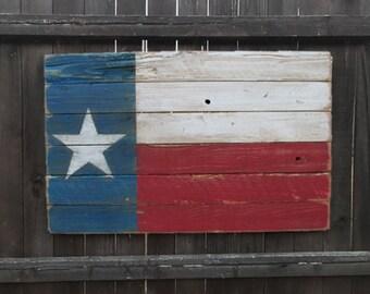 Rustic Wooden Texas Flag