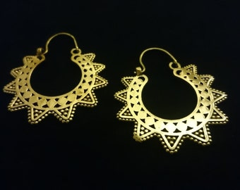 SPECIAL SALE! Beautiful tribal brass earrings
