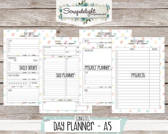 Scrapdelight Planner Kit 2017 - Confetti - A5 Day Planner