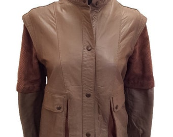 Brown Leather and Suede Jacket