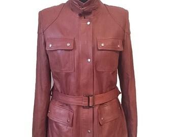 Super Soft Brown Lamb Leather Jacket