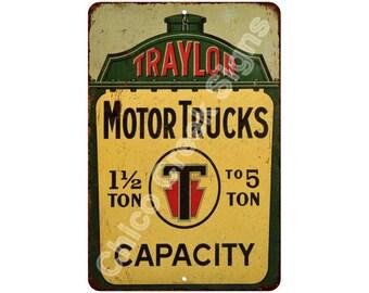 Traylor Motor Trucks Vintage Look Reproduction 8x12 Metal Sign 8121349