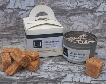 Scented Soy Candle Tin - Creamy Vanilla Fudge
