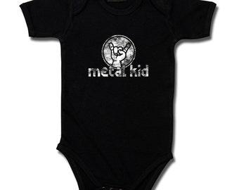 Baby Bodysuit, metal kid vintage