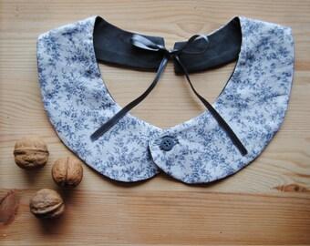 Peter Pan Collar removable, cotton liberty grey,
