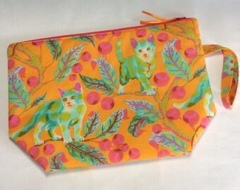 Zippered project bag - Kittens