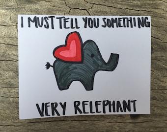 Elephant Love Card