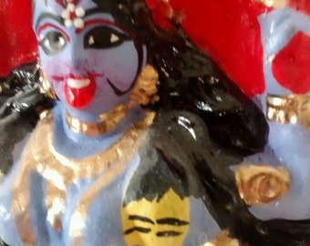 hindu goddess kali temple statue, rare item