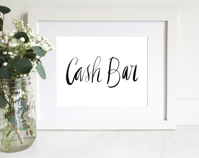 PRINTABLE Sign | Cash Bar