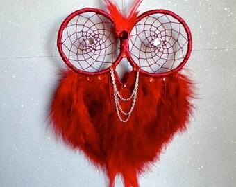 Red Owl Dream Catcher