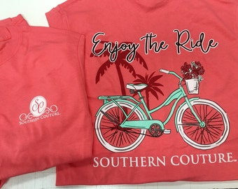 Southern Couture enjoy the ride short sleeve tee shirt NEW