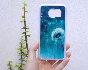 Dandelion Galaxy S8 plus phone case - Available for samsung galaxy s7 edge, note 5 - blue phone case - blowball - make a wish - flower