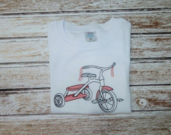 Boy's summer shirt; Boy's beach outfit; Tricycle shirt; SHIPS 1-3 DAYS