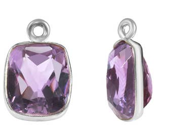 1 Pc 10x14 mm Amethyst Natural Rounded Rectangle Gemstone Pendant (GSP100161)
