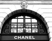 Paris Photo, Chanel on Place Vendome, Vintage Black & White Photo