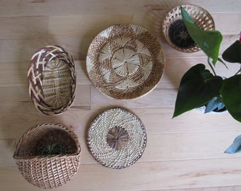 Wall Basket Collection, Vintage basket collection, wallbaskets, basketwall