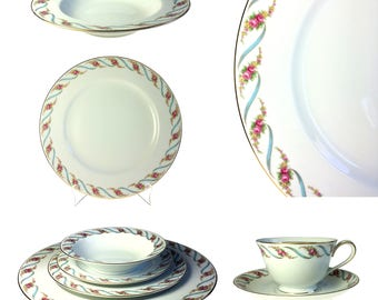 Noritake Japan Maywood 5154 Estate 84 pc China Set Serving for 12 Mid Century