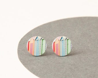 Mornington Beach boxes Studs - Iconic Melbourne inspired Pastel studs