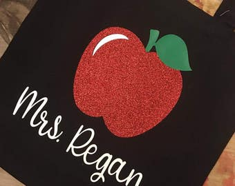 Teacher Appreciation Canvas Tote