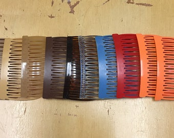 Vintage Set of Ten 1970s 1980s Hair Combs Retro Hair Combs Vintage Hair Accessory Novelty Festival Costume