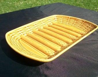 Platter//Asparagus//Serving Platter//Ceramic Platter//Asparagus Platter//Serving Dish//Asparagus Dish//Pottery Platter//Found And Flogged