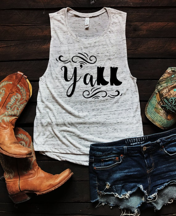 Y'all Boots Muscle Tank Top, Country Tank Top, Southern Tank Top, Country Shirt, Country Concert, Spring Break Tank