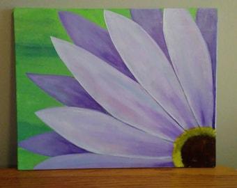 Purple Daisy Flower Acrylic Canvas 16x20