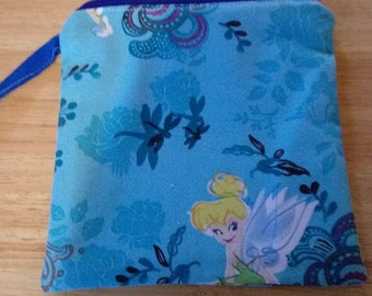 Ladies NEW Wrist Pouch Bag Purse Wristlet Pocketbook TINKERBELL Print P133