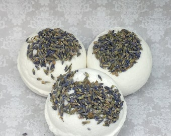 10 Lavender Bath Bombs, Natural Bath Bomb, Wedding Favors, Bath Bomb, Unisex Bath Bomb, No SLSA Bath bomb, Gift For her, stress relief