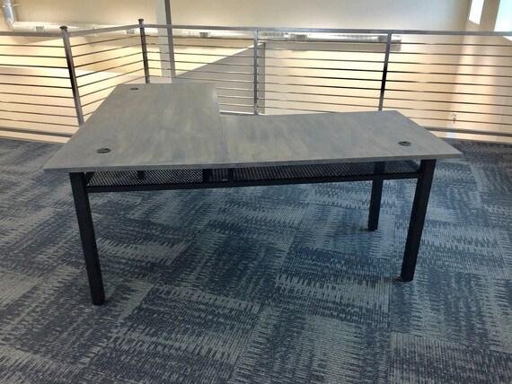 l shaped desk l desk industrial desk computer desk desk. Black Bedroom Furniture Sets. Home Design Ideas