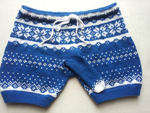 Knitting Mens Underwear : Mens underwear knitted shorts gift for him