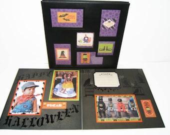 Halloween Scrapbook Album - Premade Halloween Scrapbook Album - Halloween Photo Album - 12 by 12 Halloween Album - Halloween party Scrapbook