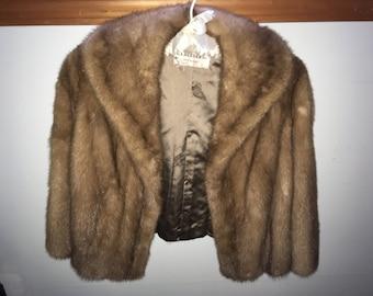 Vintage 60's-70's Mink Bolero Jacket in Autumn Haze
