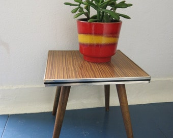 Vintage East German Mid Century Plant Stand 20th Century Plant Table