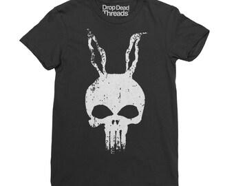 Donnie Darko se reúne el Punisher dibujado a mano culto película T camisa hombre Top nuevo