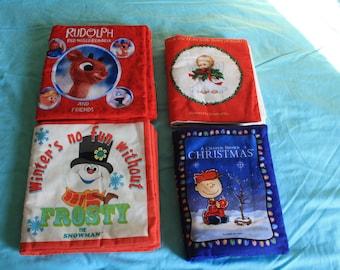 Cloth Baby Books Christmas Theme
