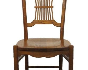 Solid oak chairs etsy for S bent dining room furniture